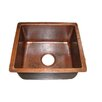"<strong>Premier Copper Products</strong> 16"" x 14"" Gourmet Rectangular Hammered Bar Sink"