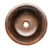 "Premier Copper Products 16"" x 16"" Round Copper Bar Sink"