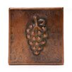 "Premier Copper Products 4"" x 4"" Copper Grape Tile in Oil Rubbed Bronze"