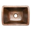 "<strong>Premier Copper Products</strong> 17"" x 12"" Rectangle Copper Bar Sink"