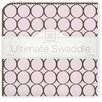 Swaddle Designs Ultimate Receiving Blanket® in Pastel Pink with Brown Mod Circles