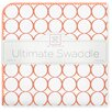 Swaddle Designs Ultimate Receiving Blanket® in Orange Mod Circles on White