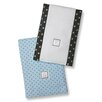 <strong>Swaddle Designs</strong> Baby Burpies® in Pastel with Brown Polka Dots (Set of 2)