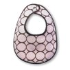 Terry Velour Bitty Bib with Brown Mod Circles
