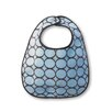 Terry Velour Baby Bib in Pastel Blue with Brown Mod Circles