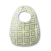 Terry Velour Baby Bib with Pastel Mod Squares