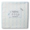 Swaddle Designs Organic Ultimate Receiving Blanket® in Pastel Mod Circles on Ivory