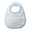 Certified Organic Cotton Baby Bib with Mod Circles on Ivory