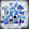 Yosemite Home Decor Revealed Artwork Movement In Blue Original Painting on Canvas