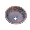 <strong>Yosemite Home Decor</strong> Leaf Design Topmount Round Vessel Bathroom Sink