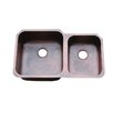 Hammered Double Bowl Undermount Copper Kitchen Sink