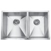 "<strong>Yosemite Home Decor</strong> 32"" x 19"" Undermount Double Square Bowl Kitchen Sink"