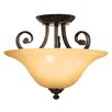 <strong>Yosemite Home Decor</strong> Florence 3 Light Semi Flush Mount