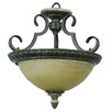 <strong>Mariposa 2 Light Semi Flush Mount</strong> by Yosemite Home Decor