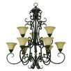 <strong>Yosemite Home Decor</strong> Mariposa 9 Light Chandelier