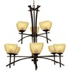 <strong>Yosemite Home Decor</strong> Sentinel 9 Light Chandelier