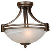 Yosemite Home Decor Sequoia 2 Light Semi Flush Mount
