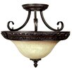<strong>Yosemite Home Decor</strong> Verona 3 Light Semi Flush Mount