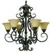<strong>Yosemite Home Decor</strong> Mariposa 6 Light Chandelier