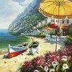 Yosemite Home Decor Revealed Artwork European Shoreline Original Painting on Canvas
