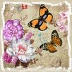 <strong>Yosemite Home Decor</strong> Revealed Artwork Butterflies and Flowers I Graphic Art on Canvas