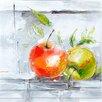 Yosemite Home Decor Revealed Artwork Fresh Apples II Original Painting on Canvas