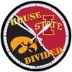 "NCAA ""House Divided""  12.75"" Round Clock"