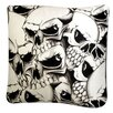 Dogzzzz Rectangle Skulls Dog Pillow