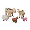 <strong>Dollhouse 5 Piece Farm Animal Set</strong> by Plan Toys
