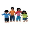 <strong>Plan Toys</strong> Dollhouse Ethnic Doll Family of 4