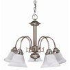 <strong>Nuvo Lighting</strong> Ballerina 5 Light Chandelier with Alabaster Bell Glass
