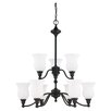 <strong>Nuvo Lighting</strong> Glenwood 9 Light Chandelier
