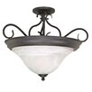 Castillo 3 Light Semi Flush Mount