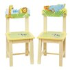 Guidecraft Savanna Smiles Kids Desk Chair (Set of 2)