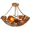 Varaluz Recycled Fascination 3 Light Semi Flush Mount Ceiling Light