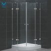 Vigo Neo-Angle Round Double Door Frameless Shower Enclosure with Base