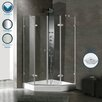 <strong>Neo-Angle French Door Frameless Shower Enclosure with Base</strong> by Vigo