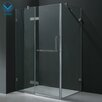 "<strong>24"" Pivot Door Swing Frameless Shower Enclosure</strong> by Vigo"