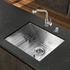 "<strong>Platinum 23"" x 18"" All in One Undermount Kitchen Sink with Faucet</strong> by Vigo"