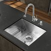 """<strong>Platinum 23"""" x 18"""" All in One Undermount Kitchen Sink with Faucet</strong> by Vigo"""