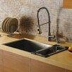 "Vigo 32"" x 19"" Undermount Single Bowl Kitchen Sink with Faucet, Dispenser and Colander"