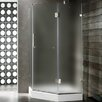 <strong>Vigo</strong> Neo-Angle Door Frameless Clear Shower Enclosure with Base