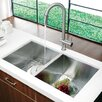"<strong>Vigo</strong> 32"" x 19"" Equal Double Bowl Zero Radius 16 Gauge Undermount Kitchen Sink"