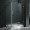Vigo Frameless Pivot Door Shower Enclosure with Right Drain