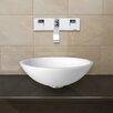 Vigo Phoenix Stone Glass Vessel Sink with Wall Mount Faucet