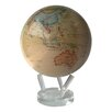 "8.5"" Globe with Crystal Base in Antiqued Beige"