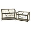 <strong>IMAX</strong> Tavares Two Piece Metal Greenhouse Set