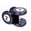 Troy Barbell 52.5 lbs Pro-Style Cast Dumbbells in Black (Set of 2)