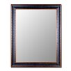 Cameo Collection Mirror in Textured Black and Copper