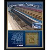 <strong>New York Yankees Game Used Dugout Bench Memorabilia Plaque</strong> by Steiner Sports